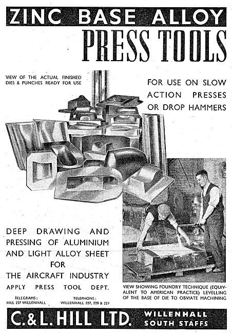 C & L Hill Press Tools. 1942