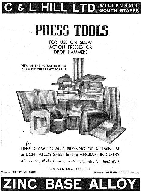 C & L Hill Press Tools For Drop Hammers Zinc Base Alloy