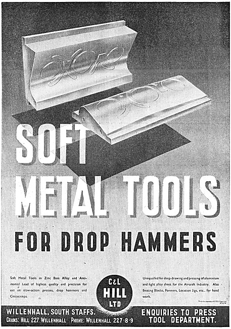 C & L Hill Soft Metal Tools For Drop Hammers