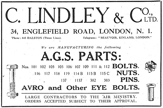 C.Lindley & Co. Manufacturers Of AGS Parts.