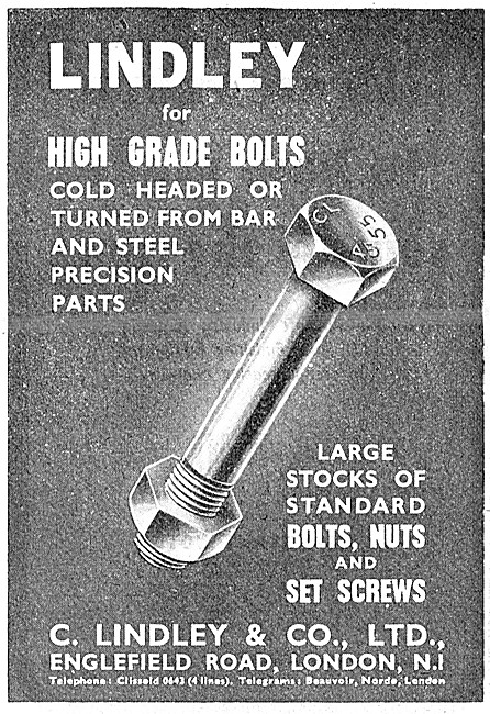 C.Lindley & Co. Manufacturers Of AGS Parts. Lindley Bolts