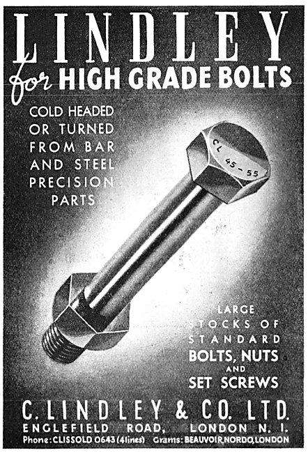 C.Lindley & Co. High Grade Bolts 1946