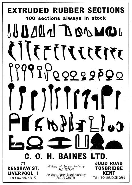 C.O.H.Baines Extruded Rubber Sections
