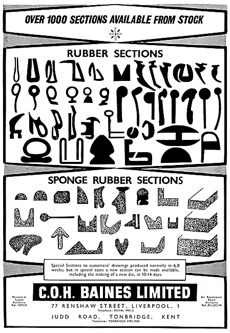 C.O.H.Baines. Rubber Sections
