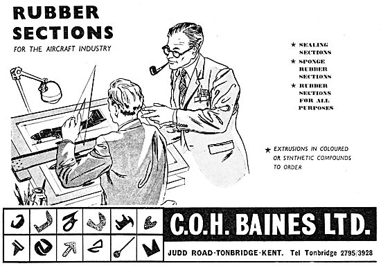 C.O.H.Baines. Rubber Sections For The Aircraft Industry