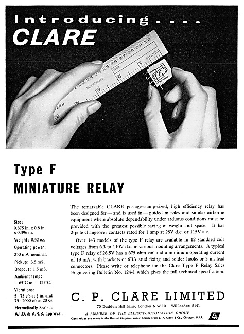 C.P.Clare Aircraft Relays