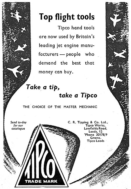 C.R.Tipping. Leeds. TIPCO Engineers Hand Tools