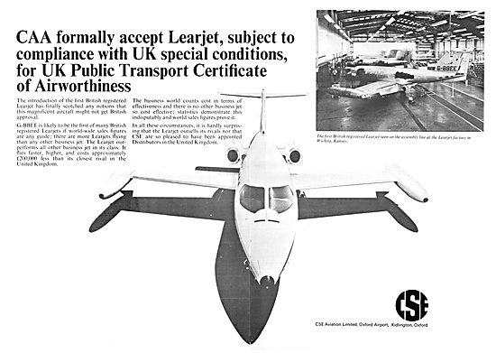 CSE Aviation - Learjet Sales & Service Oxford Air Training Schoo