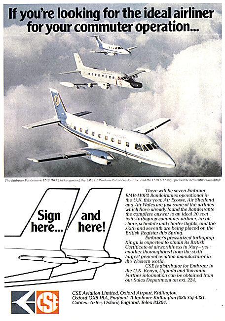 CSE Aviation - Oxford Air Training School - Embraer