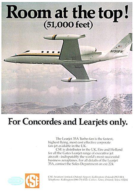 CSE Aviation - Oxford Air Training School - Learjet