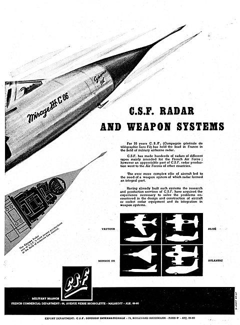 CSF Military Airborne Radar Systems