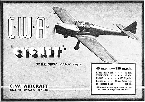 C.W.Aircraft Cygnet : Trading Estate Slough