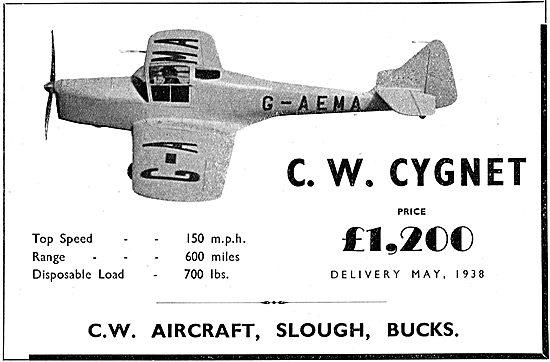 C.W.Aircraft Cygnet : G-AEMA