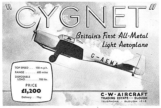 C.W.Aircraft Cygnet - G-AEMA