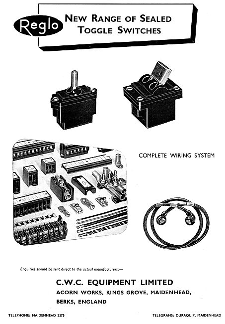 CWC Reglo Aircraft Electrical Accessories