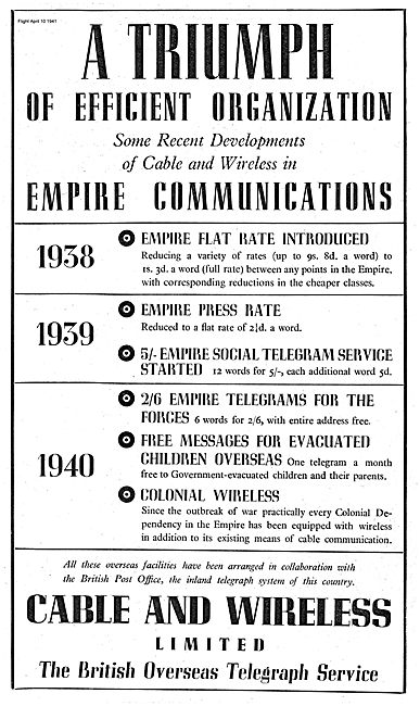Cable And Wireless Overseas Telegraph Service