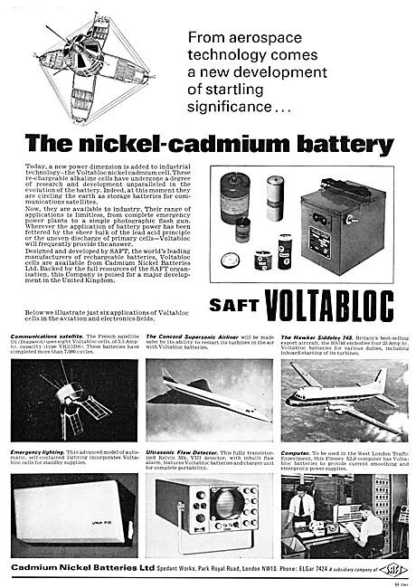Cadmium Nickel Batteries - SAFT VOLTABLOC Battery
