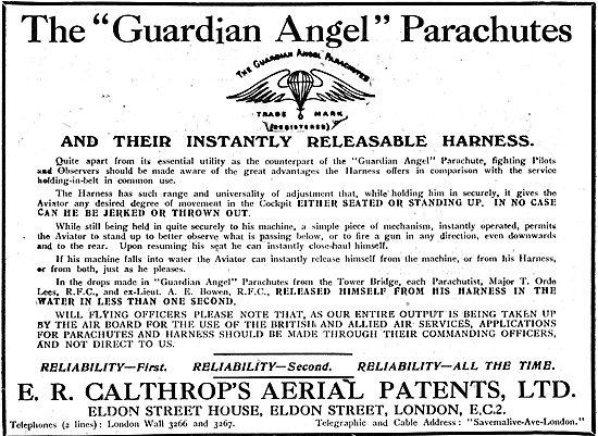 Calthrop Guardian Angel Parachute
