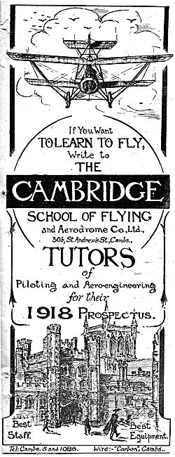 The Cambridge School Of Flying - 1918 Prospectus