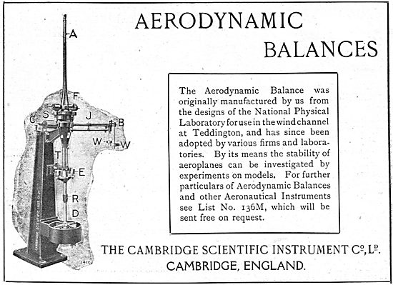 The Cambridge Scientific Instrument Co- NPL Aerodynamic Balance