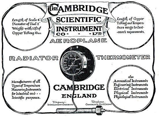 The Cambridge Scientific Instrument - Aero Radiator Thermometers