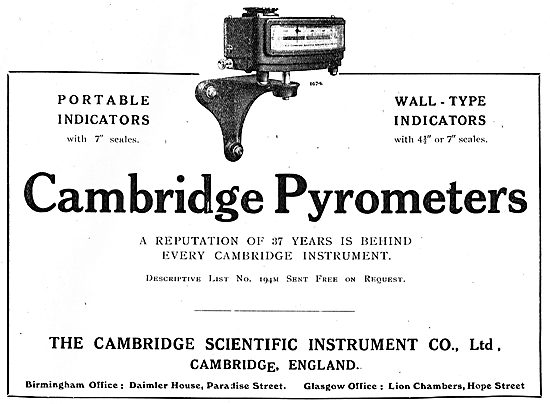 The Cambridge Scientific Instrument Co-  Pyrometers