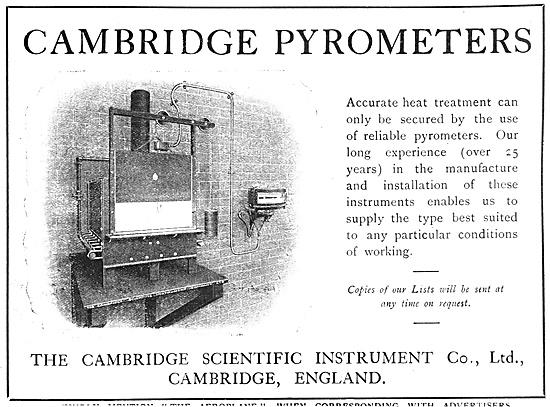 The Cambridge Scientific Instrument. Cambridge Pyrometer 1918