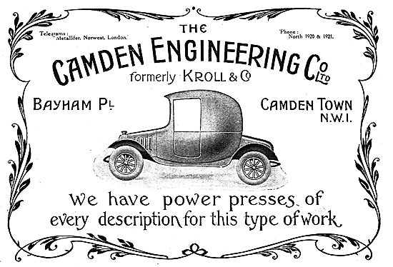 The Camden Engineering Company Ltd - Aeronautical Engineers