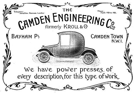 The Camden Engineering Company Ltd - Aeronautical Engineers