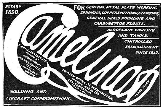 E.Camelinat. Tenby St. Birmingham.Welding & Aircraft Coppersmiths