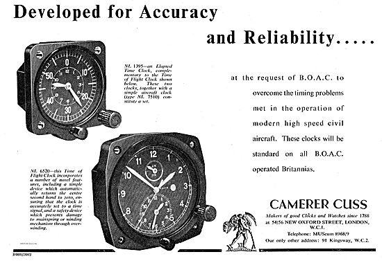 Camera Cuss Aircraft Clocks Standard On The Bristol Britannia