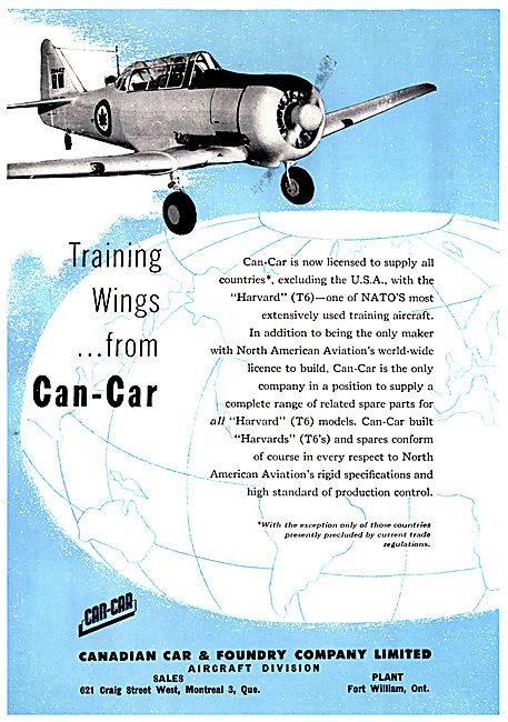 Canadian Car & Foundry Can-Car Harvrad T6