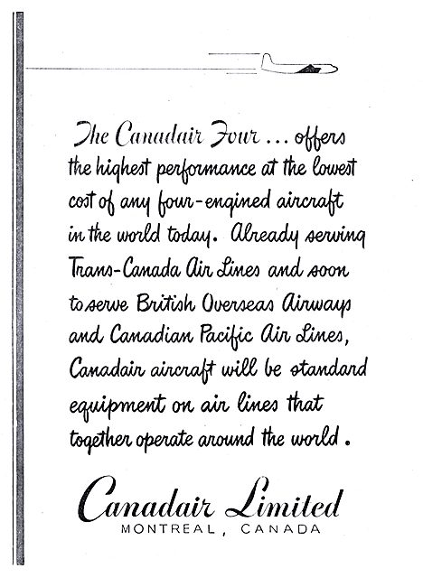 Canadair Four - BOAC