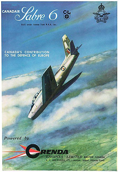 Canadair Sabre 6. Orenda Engines