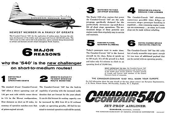 Canadair Convair 540 Airliner