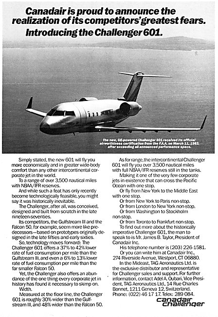 Canadair Challenger 601