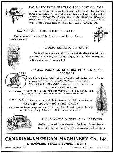 The Canadian-American Machinery Company Electric Tools