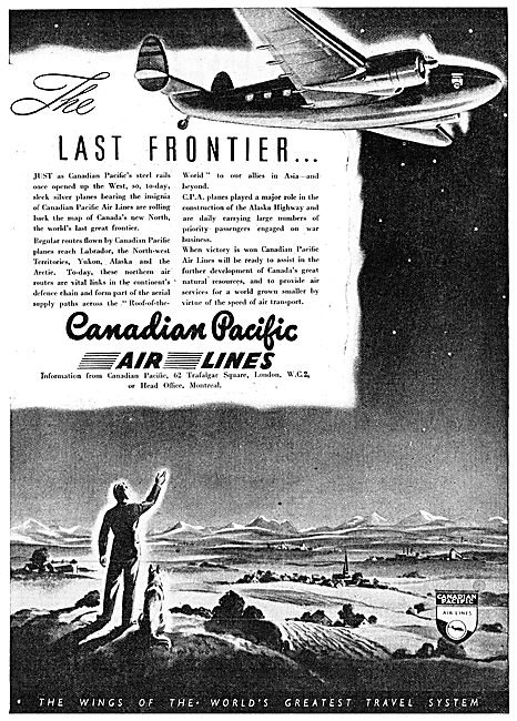 Canadian Pacific Air Lines 1943 Advert