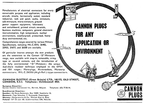 Cannon Electrical Plugs & Connectors