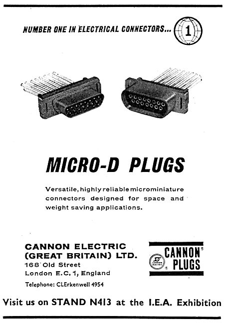 Cannon Micro-D Plugs. Electrical Connectors