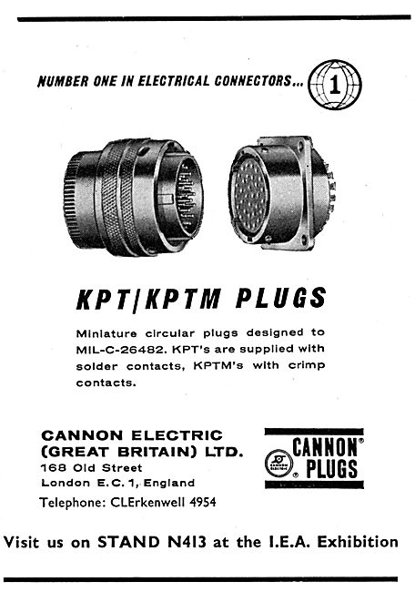 Cannon KPT/KPTM  Plugs. Electrical Connectors