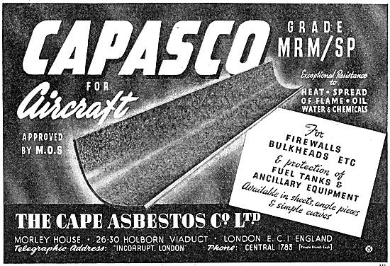 Cape Asbestos Capasco Heat Insulators, Gaskets & Flanges