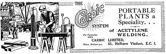 Carbic Portable Acetylene Welding Plants