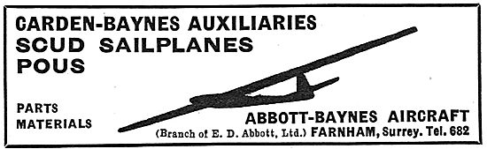 Abbott Baynes: Scud Sailplanes : Pou