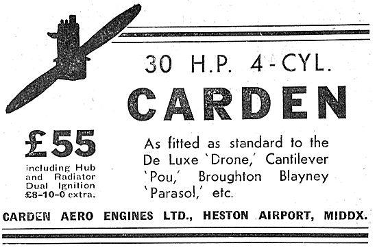 Carden 30 HP Aero Engines: Broughton Blayney Parasol