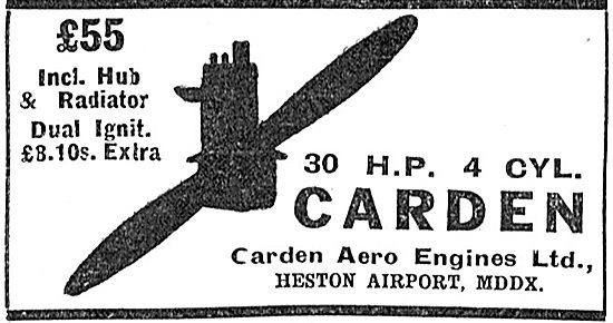 Carden 30 HP Aero Engines: