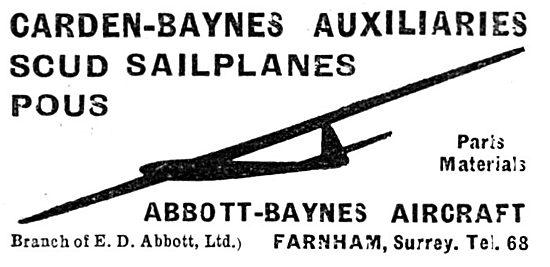 Abbott Baynes: Scud Sailplanes