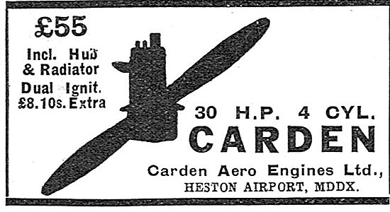Carden 30 HP Aero Engine
