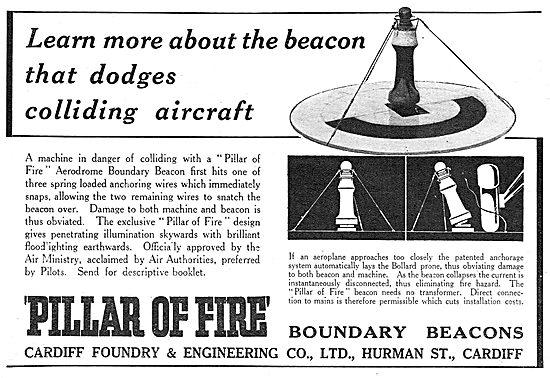 Cardiff Foundry - Pillar Of Fire Aerodrome Boundary Beacons