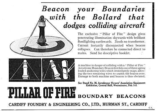 Cardiff Foundry. Pillar Of Fire Boundary Beacons